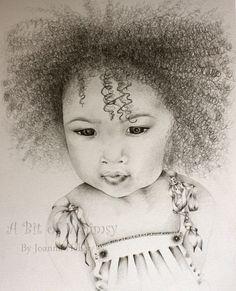 Custom Portrait / Commissioned Original Drawing by ABitofWhimsyArt, $90.00