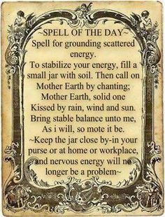 Mother earth anxiety spell