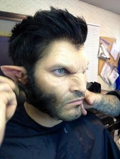 An amazing job on the make up very realistic on Tyler Hoechlin for Teen Wolf !