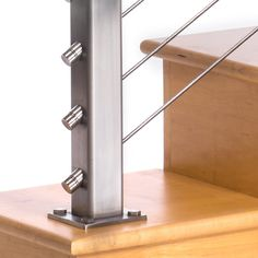 Cable Stair Railing, Cable Railing Systems, Staircase Handrail, Stair Railing Design, Staircase Ideas, Staircases, Barber Chair For Sale, Stainless Steel Cable Railing, Deck Seating