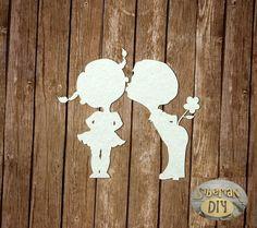 "Laser Cut Chipboard ""First love"" by SiberianDIYcraftsArt on Etsy"