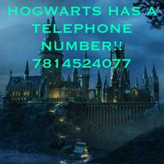 HOGWART'S PHONE NUMBER!! Really entertaining!!! A must-call if you're a huge HP nerd. I was cracking up!