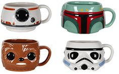 FunKo POP Home: Star Wars 4 Pack Mug Bundle   Boba Fett, Stormtrooper, Chewbacca, and BB-8! //Price: $39.99 & FREE Shipping //     #hashtag3