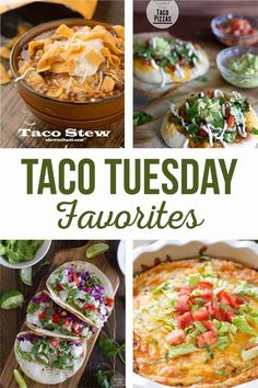 Taco recipes for the whole family that are quick and delicious!  Taco Tuesday just got even better! Shredded Chicken Tacos, Pork Tacos, Cilantro Lime Chicken, Baja Fish Taco Recipe, Mini Taco Cups, Choco Taco, Easy Taco Soup, Taco Pizza, Dessert