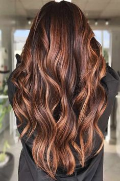 Warm & Sultry #highlights #brunette ❤ Highlighted hair is really glamorous whether it is ombre, sombre, or balayage. We have collected ideas of brunette hair with highlights. ❤ #lovehairstyles #hair #hairstyles #haircuts