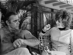 Sean Connery and Jill St. John on the set of DIAMONDS ARE FOREVER (1971)