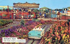 The Funfair and Gardens at Butlin's Filey Holiday Camp pictured in this postcard from the late 1950s....