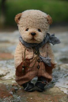 Купить Лакки... - мишка, мишка тедди, мишка в одежке, мишка тедди авторский Teddy Bear Pictures, Teddy Toys, Cute Teddy Bears, Bear Doll, Stuffed Animal Patterns, Felt Animals, Art Dolls, Creations, Chiffon