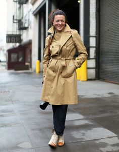 Street style photographer extraordinaire, Garance Doré, steps in front of the lens in a classic trench.    Read more: New York Street Style - Fall 2011 NY Fashion Week Street Style Pictures - Harper's BAZAAR