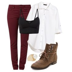 Peggy Carter Insp. Casual Outfit by lauloxx on Polyvore featuring H&M, TURNOVER, Sam Edelman, Fall, casual and peggycarter