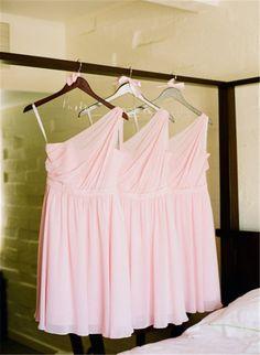 pink brautjungfernkleider abendkleider Cocktialkleider Brautmode kurz fuer Hochzeit Herbst 2013