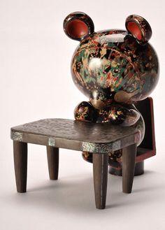 Kawaii (cute) Lacquer Bear by Akira Sano