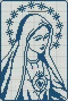 Modern Cross Stitch Patterns, Crochet Stitches Patterns, Cross Stitch Designs, Embroidery Patterns, Cross Stitch Art, Cross Stitching, Cross Stitch Embroidery, Filet Crochet, Religious Cross