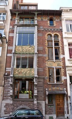 Paul Hankar House Brussels  In 1893 Hanker built his own house which, along with Victor Horta's Hôtel Tassel is considered one of the first two houses in the world built in the Art Nouveau style.