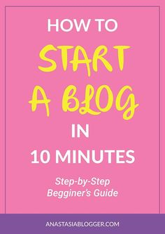 How to Start a Blog in 10 minutes: a Step-by-Step Guide for Beginners. Start your blog and make money online! Find out how to choose and register a domain name, set up Bluehost hosting for your WordPress blog, how to install the best theme that will fit your style and audience. Make money blogging from today! Blogging beginner, blogging tips for everyone to start a blog easy.