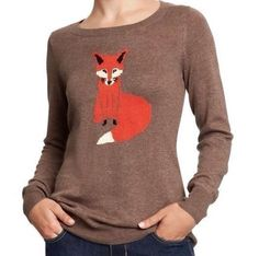 Outrageously beautiful. Wish they had in size small. Only medium and large.... cute fox, love the taupe. Rare.
