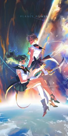 Sailor Uranus and Sailor Neptune