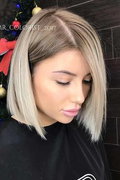 Blunt bob hairstyles are flattering for thick, thin, and medium hair length. So make yourself a cup of tea or coffee, sit back and explore all the ideas we gathered for you. #hairstyles #shorthairstyles