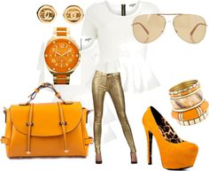 """Orange Diva"" by damikacolbert on Polyvore"