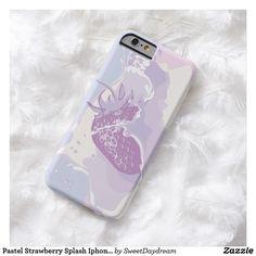 Pastel Strawberry Splash Iphone Case