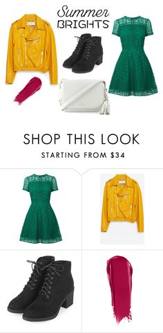 """summer time BRIGHTS"" by zagl on Polyvore featuring Warehouse, Zara, Topshop, NARS Cosmetics, Kate Spade and summerbrights"