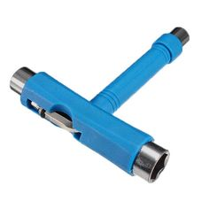JHO-Roller Rollerskate Skateboard Scooter All in 1 T Skate Board ATB Tool + Allen Key blue