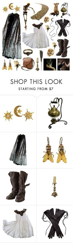 """Journeys End In Lovers Meeting"" by deepwinter ❤ liked on Polyvore featuring Zucca, Ann Demeulemeester, Andrea Fohrman, romantic, fantasy, romance, shakespeare and infp"