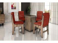 Conjunto de Mesa 4 Cadeiras Dobuê Movelaria - Amsterdam de R$ 836,00 por R$ 639,90 em até 7x de R$ 91,41 sem juros.