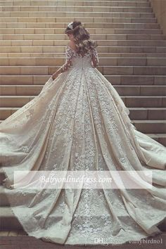 Prom Dress For Teens, Gorgeous Beautiful Modest Lace Ball Gown Long Sleeves Wedding Dresses, cheap prom dresses, beautiful dresses for prom. Best prom gowns online to make you the spotlight for special occasions. Disney Wedding Dress, Dubai Wedding Dress, Wedding Dress Train, Backless Wedding, Wedding Dress Sleeves, Long Wedding Dresses, Perfect Wedding Dress, Tulle Wedding, Gown Wedding