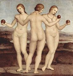 The Three Graces is an oil painting by Italian painter Raphael, housed in the Musée Condé of Chantilly, France. The date of origin has not been positively determined, though it seems to have been painted at some point after his arrival to study with Pietro Perugino in about 1500