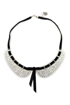 i love this stainless steel lace collar necklace. i might DIY something like this with regular lace