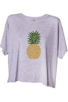 8caece6b57 A Pineapple A Day Crop Tee Pineapple Cocktail