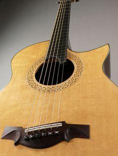 Dream Guitars: New Somogyi Guitars, Ervin Somogyi, 000-12, Brazilian Rosewood, Bearclaw Sitka Spruce, Custom 000 12C Fan Fret, Acoustic Guitar, Martin Simpson,