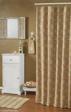Starfish shower curtain kids bathroom more beachy shower curtains