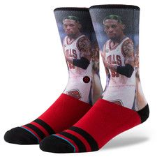 Chicago Bulls Stance Hardwood Classics Player Socks - Dennis Rodman