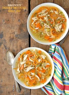 Skinny Chicken Sweet Potato Noodle Soup - BoulderLocavore.com