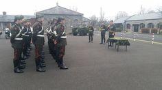Irish Army Cavalry Corps motorcycle escort dress uniform.