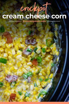 Crockpot Veggies, Crockpot Dishes, Crock Pot Cooking, Crockpot Recipes, Cooking Recipes, Copykat Recipes, Corn Recipes, Side Dish Recipes, Fall Recipes