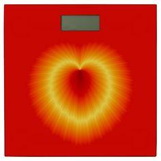 Golden Heart Bathroom Scale by www.zazzle.com/htgraphicdesigner* #zazzle #gift #giftidea #bathroom #scale #purple #hearth #red