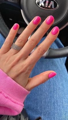 Gorgeous summer nail colors & designs to try this summer,The 45 pretty nail art designs that perfect for spring looks 20 Source. White Summer Nails, Summer Nails Almond, Summer Nails Neon, Bright Summer Acrylic Nails, Summer Shellac Nails, Nail Ideas For Summer, Bright Gel Nails, Red Gel Nails, Nails Gelish