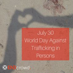 Today is @unitednations World Day Against Trafficking in Persons. Join us as we choose to give hope to those who have none. #igivehope #noslavery