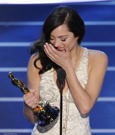 """In her 2008 Oscar acceptance speech, Marion proclaimed """"thank you life, thank you love"""" and """"it is true, there is some angels in this city!"""" She was congratulated by the President of France saying, I would like to extend my warmest congratulations to Marion Cotillard, who has just received the Oscar for Best Actress for her masterful interpretation of Édith Piaf in La Vie en Rose.Marion embodies an Édith Piaf who is unsettling in her realism, emotion and passion."""