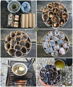 Make Your Own Fire Starter Logs for a One Match Fire Have trouble getting a campfire to stay lit? Make your own fire starter logs for a one match fire each time. These are cheap and easy to make. Camping Diy, Bushcraft Camping, Camping Stove, Camping Survival, Camping Meals, Survival Skills, Camping Hacks, Outdoor Camping, Wilderness Survival