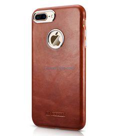 iCarer iPhone 7 Plus Transformers Vintage Back Cover Genuine Leather Case