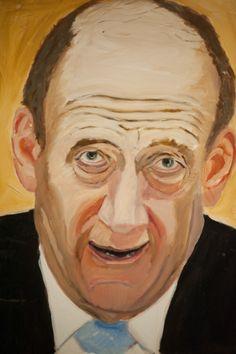 Olmert by George Bush -  Portrait Exhibition Opens in Dallas