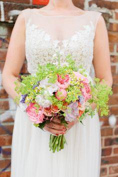 Elegant organic bouquet: http://www.stylemepretty.com/2015/03/03/elegant-brooklyn-winery-wedding/   Photography: Isabelle Selby Photography - isabelleselbyphotography.com