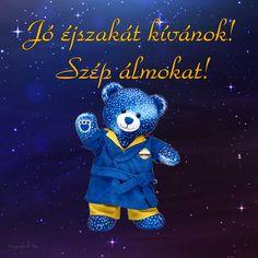 Jó éjszakát kívánok! - Megaport Media Share Pictures, Animated Gifs, Good Night Gif, Smiley, Smurfs, About Me Blog, Teddy Bear, Joy, Watch