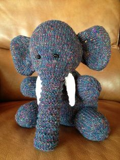 Knitted Toy Elephant