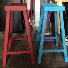 Painted stools!