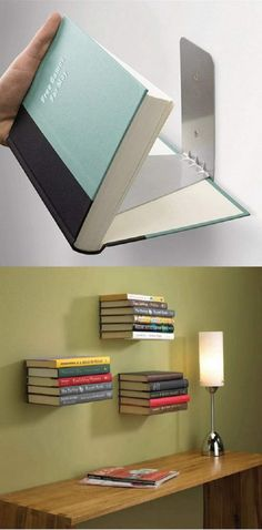 20 DIY Book Shelves Made out of Books